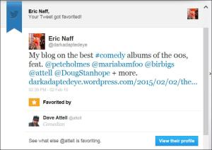 attell favorited me