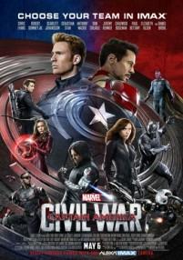 cap america civil war poster